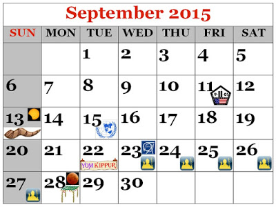 September Dates of Significance